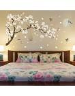187*128cm Big Size naklejki ścienne z motywem drzewa ptaki kwiatowa ozdoba do domu tapety do salonu sypialnia DIY pokoje winylow