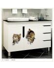 Najnowszy Home Decor koty 3D naklejki ścienne Hole View naklejka na toaletę Cat Home Decoration naklejki ścienne pcv wymienny Ar