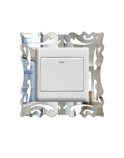 1 zestaw pc naklejka pod włącznik Home Decor naklejki ścienne wystrój salonu lustro styl ramka na zdjęcia do dekoracji ścian dom