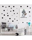 Multicolor Diy Polka Dot naklejka ścienna do dekoracje do dziecięcego pokoju metaliczny złoty czarny różowe kropki naklejki ście