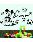 Spersonalizowana nazwa własna myszka Mickey na ścianę naklejka Minnie Decor dla dzieci pokój dekoracja do pokoju dziewczęcego na