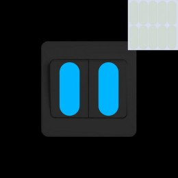 Świecące w ciemności przełącznik Panel naklejka na guzik DIY Luminous wskazując pasek nocna lampka na ścianę dekoracyjna naklejk