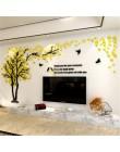 Duży rozmiar drzewo akryl dekoracyjny 3D naklejka ścienna sztuka diy tło telewizora ściana plakat do dekoracji domu sypialnia sa