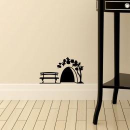 Mała mysz otwór naklejki ścienne szafa drzwiowa ozdoby do dekoracji domu dekoracja pokoju dla dzieci kreatywny pcv rzeźbione nak