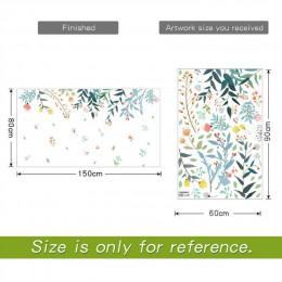 DICOR DIY kwiaty odbicie dekoracja wnętrz ściana artystyczna naklejki do salonów kolorowe piękne zdejmowane Adesivo de parede