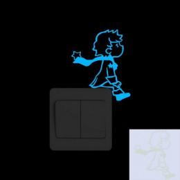 Mały książę Home Decor świecące w ciemności naklejka ścienna do pokoju dziecięcego dzieci Baby Boy dziewczyna sypialnia DIY deko