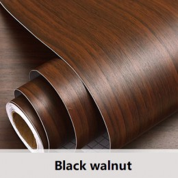 1 M/2 M naklejki z drewna ziarna Home Decor wodoodporna olejoodporna szafka kuchenna blat PVC samoprzylepne naklejki do ozdabian