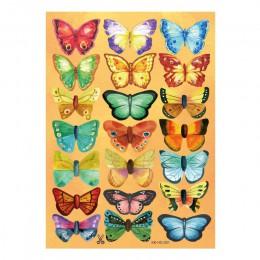 30 sztuk 3d pcv multicolor naklejka na ścianę z motylem artystyczne naklejki salon jednolity kolor motyle do mural dekoracja wnę