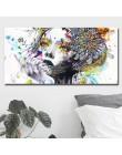 Piękny kwiat dziewczyna malarstwo na płótnie ściany plakaty artystyczne zdjęcia z nadrukiem na dekoracje do wnętrz do sypialni b