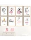 Plakat skandynawski różowa dziewczynka wystrój pokoju przedszkole plakat na płótnie zdjęcia ścienny obraz na płótnie plakaty dek