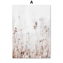 Roślina hodowlana kwiat liście pszenica ściana krajobrazowa płótno artystyczne malarstwo Nordic plakaty i druki zdjęcia ścienny