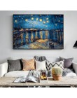 Van Gogh gwiaździstej nocy obrazy na płótnie replika na ścianie impresjonistów gwiaździstej nocy obrazy na płótnie do salonu Cua