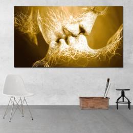 RELIABLI ART obraz na płótnie abstrakcyjny obraz olejny na płótnie miłość pocałunek plakat na ścianę pokój artystyczny obraz do