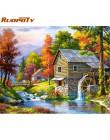 RUOPOTY ramka 60x75cm krajobraz obraz DIY według numerów zestaw obszarów wiejskich farby przez numery wyjątkowy prezent dla poko
