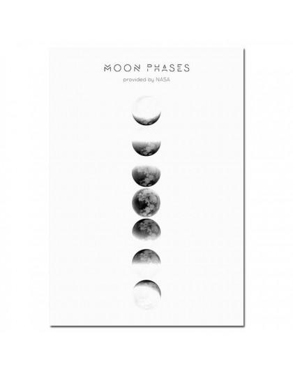 Faza księżyca płótno plakaty i druki minimalistyczna Luna Wall Art malarstwo abstrakcyjne Nordic zdjęcia do dekoracji nowoczesne