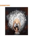 CHENISTORY Bezramowa Tancerka Baletowa zrób to sam Malowanie Numerami Akrylowa Farba Na Płótnie Ręcznie Malowany Obraz Olejny Na