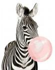 CHENISTORY 60x75cm ramka ręcznie malowany obrazek według numerów zestaw zwierząt Zebra obraz ścienny według numerów kolorowanie