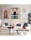 Maroko drzwi plakat skandynawski obraz ścienny na płótnie dekoracje religia Casablanca Palace zdjęcia ścienny do salonu Unframed