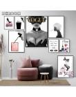 Moda plakaty z nadrukiem Sexy wysokie obcasy ścienne artystyczne etui magazyn płótno malarstwo perfumy dekoracja wnętrz pokój dz