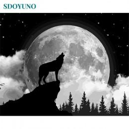 SDOYUNO malowanie numerami akrylowe cyfrowe malowanie numerami krajobraz kolorowe księżyc 60X75cm zdjęcia według numerów DIY bez
