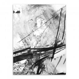 Nowoczesny abstrakcyjny chiński atrament Splash płótno A4 plakat artystyczny drukuj obraz malarstwo ścienne bez ramki Vintage Re