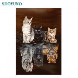 SDOYUNO zdjęcia według numerów 60x75cm ręcznie malowany obrazek według numerów bezramowe do wystroju domu malarstwo cyfrowe na p