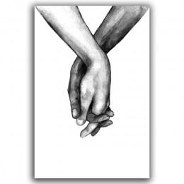 Nordic Back biały w stylu słodka miłość Wall Art plakat na płótnie minimalistyczna grafika cytaty miłosne malarstwo obraz na wys
