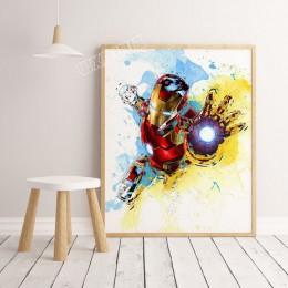 2019 akwarela marvel superhero movie Avengers: Endgame plakat zdjęcia do pokoju dziecięcego płótno ozdobne malowanie K295