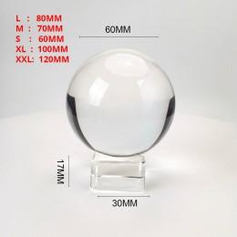Wyczyść 60mm/70mm/80mm/100mm/120mm kryształowej kuli z darmowym grawerem stojak K9 z kulami kryształowymi na zdjęcie rekwizytu