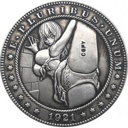 Hobo nikiel 1921-D USA Morgan Dollar monety kopia typu 86
