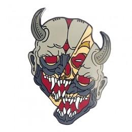 Hannya maska odznaka horror demon pin japońska kultura inspirowana biżuteria