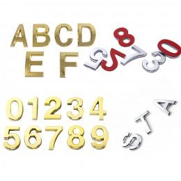 Samoprzylepne znaki numeryczne i litery alfabetu angielskiego numer domu hotelowego płyta drzwi stół ogród skrzynka pocztowa num