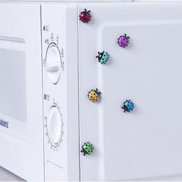 6 sztuk piękny biedronka magnesy na lodówkę home decor ozdoba na lodówkę naklejka magnetyczna dekoracja pokoju karteczki na wiad