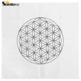 Sunligoo 1x Mini nadruk kwiat życia/kostka metatrona/ziarno życia święta geometria siatki kryształowe ołtarz na kamienie czakry