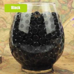 Czarny kryształ gleby błoto 100 sztuk dorastają koraliki wodne śliczne hydrożel magiczny żel Jelly Balls Orbiz Sea Babies dla wa