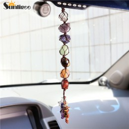 Sunligoo 7 Chakra spadł kamień Tassel duchowa medytacja wiszące/okno/Feng Shui Ornament Reiki kamienie samochód/wystrój domu