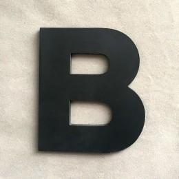 """9 cm/3.54 """"pcv czarne wielkie litery angielskie litery wnętrze ściany ogród ślub dekoracyjne alfabet przyjazne dla środowiska li"""