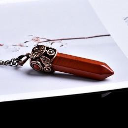 1PC naturalne kryształowe ozdoby mineralne Vintage kryształ wskazując magia naprawy magia joga wróżby Amulet energii wisiorek DI