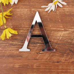 Akrylowe angielskie litery naklejki ścienne 3D DIY samoprzylepne spersonalizowana nazwa list naklejki na ślub urodziny Home Deco