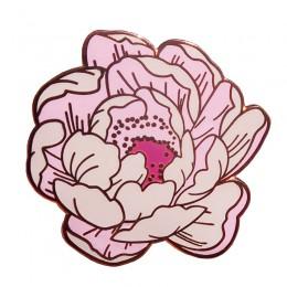 Szpilka emaliowana w kwiaty