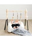 Nordic wystrój pokoju dziecięcego zagraj w siłownię zabawka drewniana przedszkole zabawka sensoryczna prezent niemowlę pokój wie