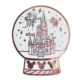 Magiczny zamek śnieżny glob pin pastelowy kryształowej kuli broszka szczęśliwy prezent bożonarodzeniowy dla dzieci