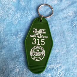 Wielki północny pokój hotelowy 315 Twin Peaks KeyTag brelok do kluczy