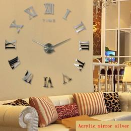 2019 hot prawdziwe przyjazd cyfrowy lustro duży zegar ścienny nowoczesny salon zegary kwarcowe metalowe darmowa wysyłka domu zeg