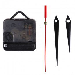 1 zestaw cichy, ścienny zegar igła kwarcowa ruch czarne i czerwone ręce DIY wymiana części naprawa zestaw narzędzi zestaw mechan