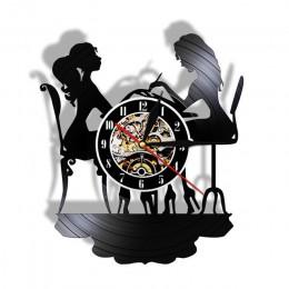 Niestandardowy Salon Spa biznes znak ścienny dekoracje ścienne Salon paznokci personalizowany twoje imię płyta winylowa zegar śc