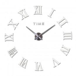 Nowa kreatywna duża akrylowa ściana lustrzana zegar diy zegarek kwarcowy pojedyncza twarz zegary nowoczesne dekoracje do domu na