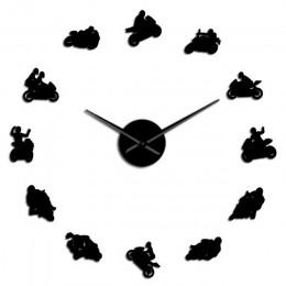 Motocross rower sportowy ozdoby do dekoracji wnętrz DIY gigantyczny zegar ścienny zegarek sporty ekstremalne motocykl Super do r