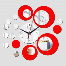 2016 przyjazd hot room srebrny duże kwiatowe kwarcowy akrylowy zegar ścienny tryb rn projekt luksusowe 3d lustro zegary zegarek