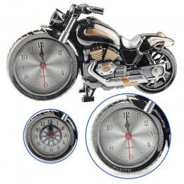 Kreatywny motocykl motocykl wzór budzik zegar na biurko kreatywny dom prezent urodzinowy fajny zegar (typ koła był losowo)